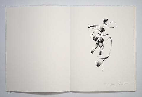 Lithographie, livre d'artiste«Au pas pressé»Textes : Laurent BergerIllustrations : Kitty SabatierÉditions Alain Paccoud ®2006